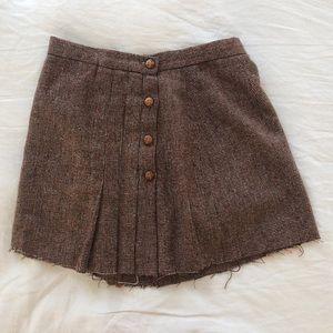 Vintage tweed mini skirt